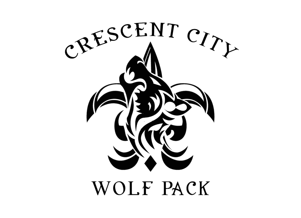 Crescent City Wolf Pack Logo